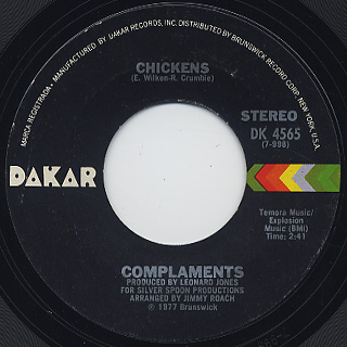 Complaments / Falling In Love c/w Chickens back