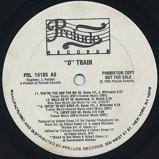 D Train / You're The One For Me label