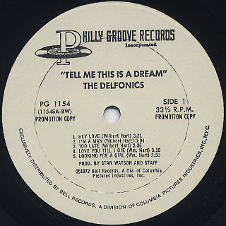 Delfonics / Tell Me This Is A Dream label