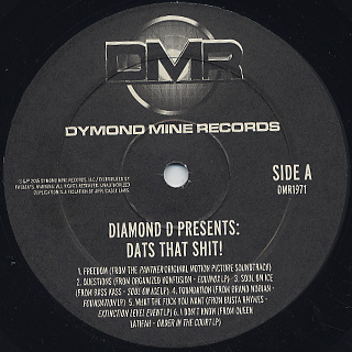 Diamond D / Dat's That Shit! An Exclusive Collection Of Rare Instrumentals From The DAT Vault label