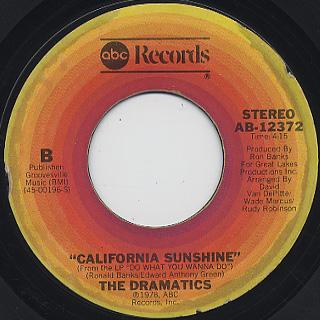 Dramatics / California Sunshine back