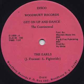 Earls / Get On Up And Dance (The Continental)