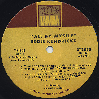 Eddie Kendricks / All By Myself label