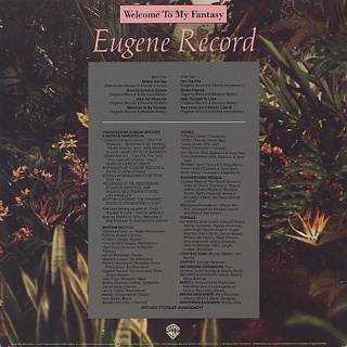 Eugene Record / Welcome To My Fantasy back