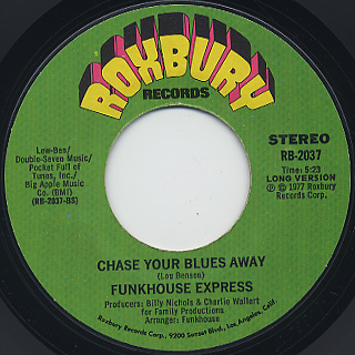 Funkhouse Express / Chase Your Blues Away back