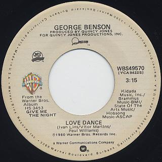 George Benson / Love x Love c/w Love Dance back