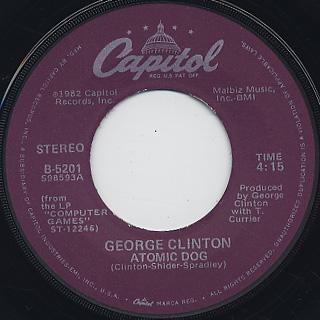 George Clinton / Atomic Dog (7w/Jacket) label