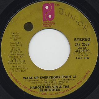 Harold Melvin & The Blue Notes / Wake Up Everybody (7