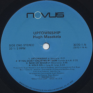 Hugh Masekela / Uptownship label