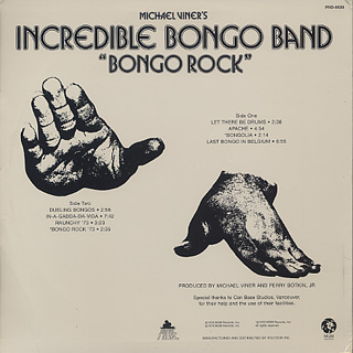 Incredible Bongo Band / Bongo Rock back