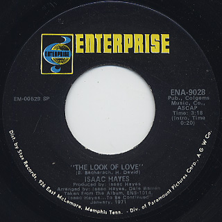 Isaac Hayes / The Look Of Love c/w Ike's Mood