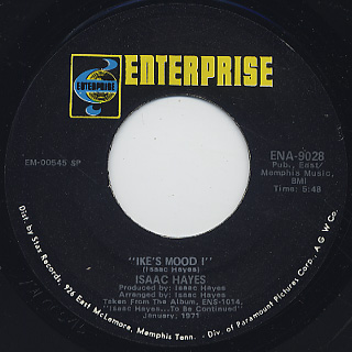 Isaac Hayes / The Look Of Love c/w Ike's Mood back