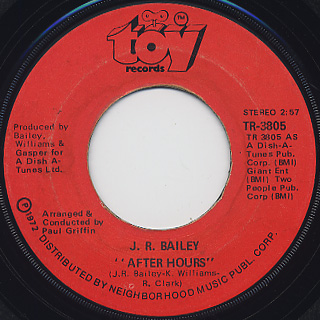 J.R. Bailey / After Hours c/w Heaven On Earth