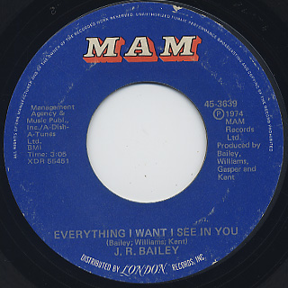 J.R. Bailey / Everything I Want I See In You (EX-) back