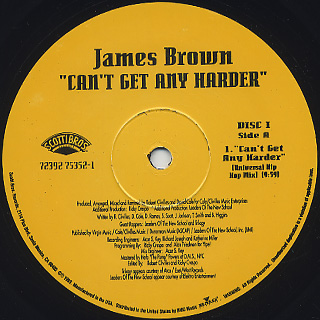 James Brown / Can't Get Any Harder (2x12