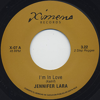Jennifer Lara / I'm In Love c/w Joe Cruz / Black Widow