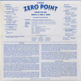 Kashmere Stage Band / Zero Point back