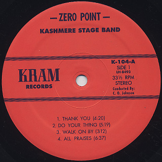 Kashmere Stage Band / Zero Point label