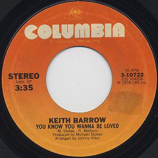 Keith Barrow / You Know You Wanna Be Loved