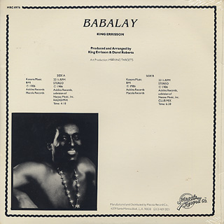 King Errisson / Babalay back