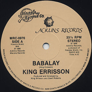 King Errisson / Babalay label