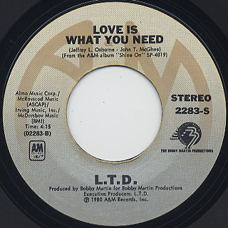 L.T.D. / Shine On c/w Love Is What You Need back