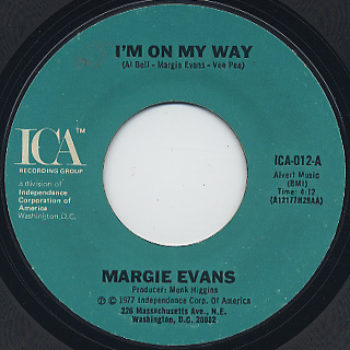 Margie Evans / I'm On My Way front
