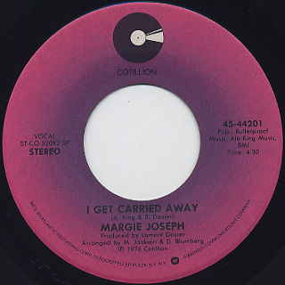 Margie Joseph / Hear The Worlds, Feel The Feeling back