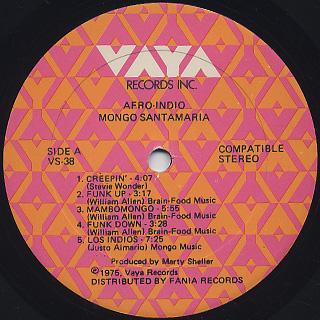 Mongo Santamaria / Afro-Indio label