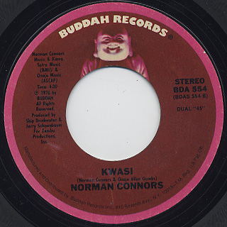 Norman Connors / Betcha By Golly Wow c/w Kwasi back