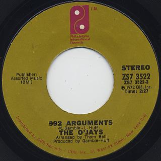 O'Jays / 992 Arguments
