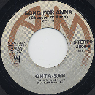 Ohta-San / Song For Anna (Chanson D' Anna) c/w Keeping You Company