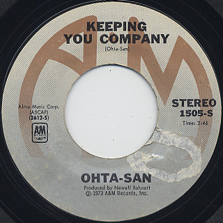 Ohta-San / Song For Anna (Chanson D' Anna) c/w Keeping You Company back
