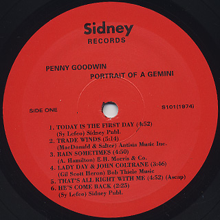 Penny Goodwin / Portrait Of A Gemini label