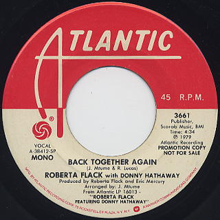 Roberta Flack with Donny Hathaway / Back Together Again back