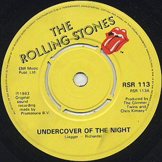 Rolling Stones / Undercover Of The Night (7