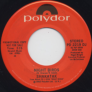 Shakatak / Night Birds (45)