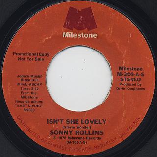 Sonny Rollins / Isn't She Lovely c/w Mono