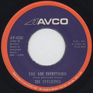 Stylistics / You Are Everything c/w Country Living