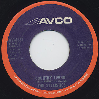 Stylistics / You Are Everything c/w Country Living back