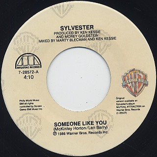 Sylvester / Someone Like You (7w/Jacket) label