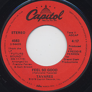 Tavares / Timber c/w Feel So Good back