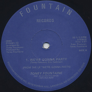 Toney FounTaine / Come Back To Me label