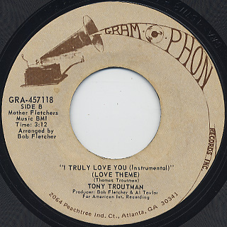 Tony Troutman / I Truly Love You front