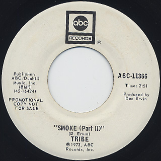 Tribe / Smoke (Part I) c/w Part II back