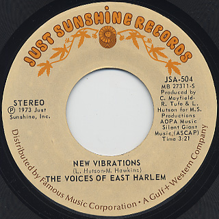 Voices Of East Harlem / New Vibrations c/w Giving Love