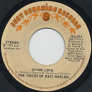 Voices Of East Harlem / New Vibrations c/w Giving Love back
