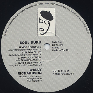 Wally Richardson / Soul Guru label