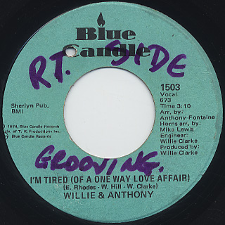 Willie & Anthony / Groovin' back