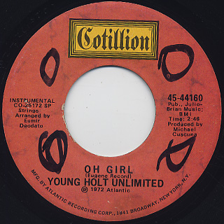 Young Holt Unlimited / Oh Girl c/w Yes We Can